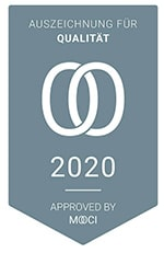 MOOCI Zertifikat 2020 - Auszeichnung für Qualität Dr. med. Schnitzler